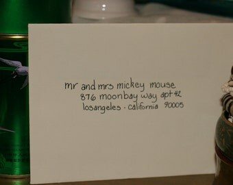 Custom Wedding Calligraphy Classic Lowercase Script Style Made To Order Hand Lettered Invitations Custom Addressed