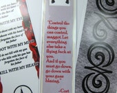 Dark Tower Bookmark Set of 3, With Cort Quote and Gunslinger Creed, Stephen King