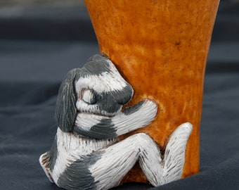Sleeping Lop Eared Rabbit Vase