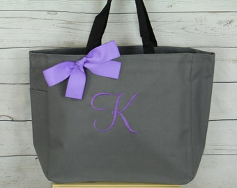 12 Personalized Bridesmaid Gift Tote Bags Personalized Tote, Bridesmaids Gift, Monogrammed Tote