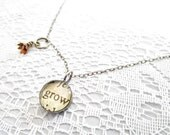 grow necklace, flower necklace