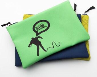 Zipper Bag, Fiber Art Geek, Skeins, Zombie Knitter, Notions Bag
