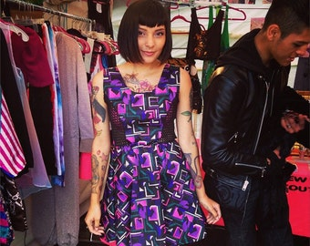 New York Couture *Limited Edition* GEOMETRIC Mesh Skater Dress