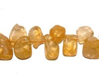Citrine Teardrop Gemstone Beads