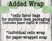 Fee for Additional Packaging, Price Per 10 Soaps or Sets