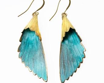 Handmade Verdigris Patina Earrings Cone Earrings Boho Earrings Rustic Earrings