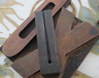 Letter U Antique Letterpress Wood Type Printers Block