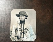 Civil War Confederate Military Soldier With Sword And Pistol TinType C699NP