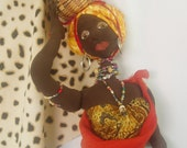 """PATTERN, Paper Version- AFRI COCO, 63 cm (25"""") Tall, Diy African Doll, Instructional, Cloth Doll Projects, Workshop,"""