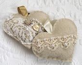 love token . wedding vow heartfelted art . felted heart . fiber art heart . beaded heart . gypsy heart  . love note . love note heart