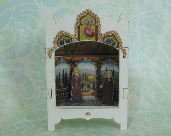Miniature Toy Theater Vignette in Palest Pink