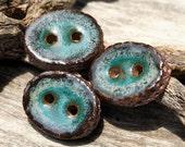 Handmade Ceramic Button Set of 3