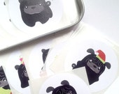 The T-Tea the Pug Stole My Heart Magnets MATT001 and 25 black pug stickers