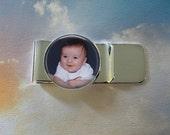 Custom Photo Money Clip -  Personalized for Dad or Wedding -  Men's Keepsake