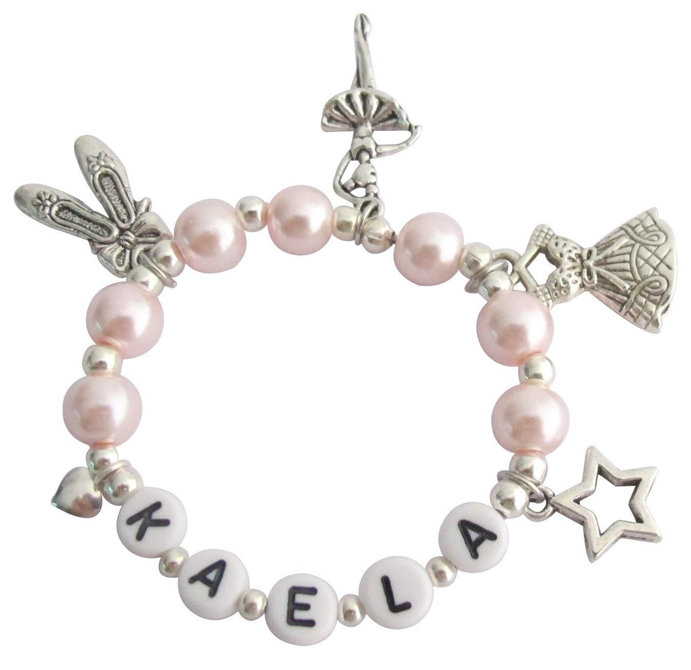 ballerina jewelry pink pearl ballet recital