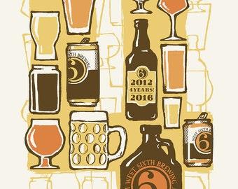West Sixth Brewery - 4th Birthday Celebration Art Print