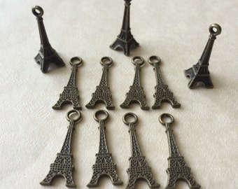 Paris Eiffel Tower Charms (11) set of 11