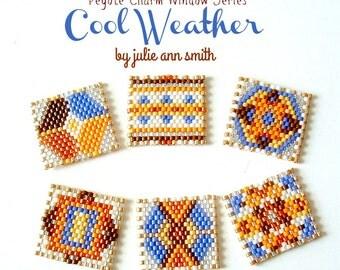 Julie Ann Smith Designs PEYOTE CHARM WINDOWS Cool Weather Series