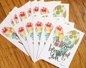 hello, beautiful you. tribe set of 12 cards for giving, tucking, enclosing, and sharing.