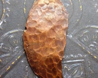 Rustic Hammered Antiqued Copper Leaf