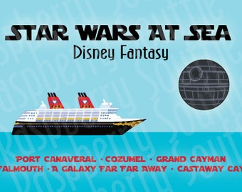 Disney Fantasy Star Wars at Sea Western Caribbean Cruise Magnet 5x7 Download