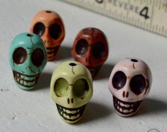 5 Skulls - 14mm x 22mm