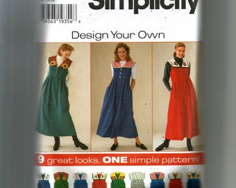 Simplicity Misses' Jumper With Detachable Collar Pattern 7316