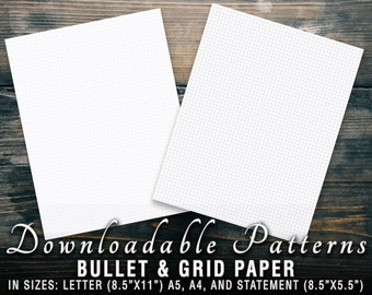 Printable Dot and Grid Paper - Letter, A5, A4, and Statement Sizes