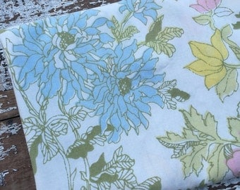 30% OFF SUPER SALE- Vintage Floral Fabric-  Reclaimed Vintage Bed Linens Fabric-