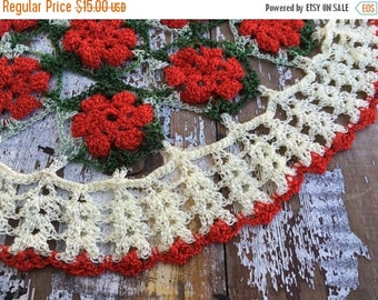 40% FLASH SALE- Vintage Christmas Embroidery-Needlework Pieces-Flea Market Chic