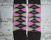 baby leggings, pink and brown, argyle, baby leg warmers, legwarmers, toddler, girl, boy, crawler covers, baby onesies, accessories, tights