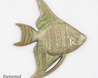 30mm Antique Silver Angelfish (2 Pcs) #5446