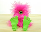 Nervous Nelly Plush Monster Toy- Pink