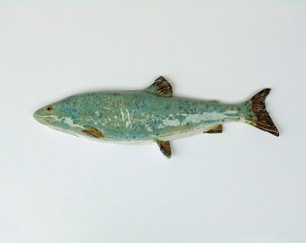 Lake Trout Number 2 Ceramic fish art decorative wall hanging