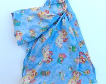 Doll Carrying Ring Sling - Toy Carrier - Pouch Doll Sling - Babywearing - Baby Doll Sling – Doll Ring Sling - Doll Sling - Fairy Tea Fabric
