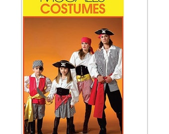 McCalls M4952 Sewing Pattern Pirate Buccaneer Costume Size Kids 3 - 8