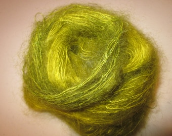Kid Mohair Brushed Lace Weight Yarn (Grasshopper) 100 yards 91.4 meters