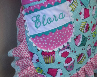 Monogramming - Embroidered Names - My Name Monogrammed on a Apron - Annies Attic Aprons - Monogramming Names on Aprons
