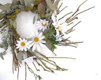 RONAN WREATH   Twigs and Daisies for Spring