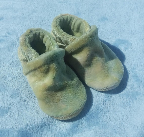 Spring: LWI Dyed Bamboo Velour Slippers 0-3M