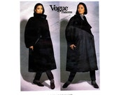 Issey Miyake Reversible Coat Vogue 2978 Sewing Pattern Size 8 - 10 - 12 - 14 - 16 - 18 Bust 31 1/2 - 32 1/2 - 34 - 36 - 38 - 40 UNCUT