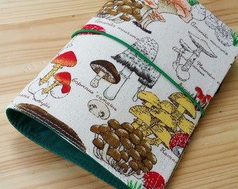 Fabric Fauxdori Travelers Notebook moleskin pocket size  midori passport size Mushroom Fabric water resistant interior