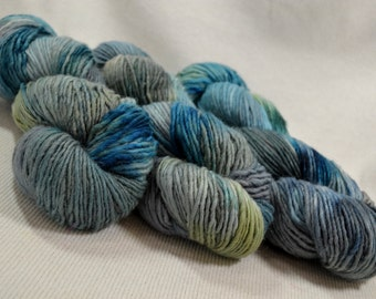 SALE Yarn Hollow Wise Goat Hand Hand Dyed Single Ply Wool/Mohair Marsh Smudge OOAK Multi Color