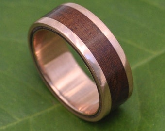 Yellow Gold Un Lado Asi Wood Ring Ecofriendly 14k Recycled