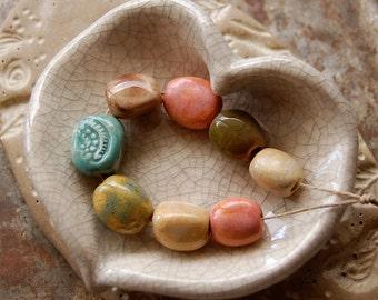 Pebbles / Ceramic Bead Set