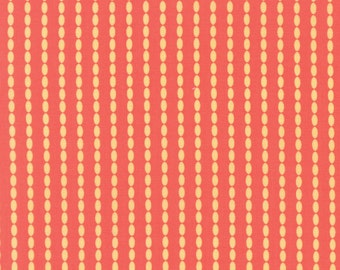 Sundrops - Beaded Stipe in Dark Coral: sku 29015-27 cotton quilting fabric by Corey Yoder for Moda Fabrics - 1 yard