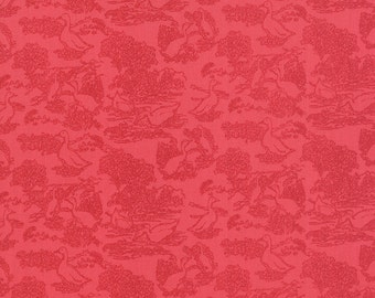 SALE - Gooseberry - Toile Waddle in Berry Pink: sku 5012-13 cotton quilting fabric by Lella Boutique for Moda Fabrics - 1 yard