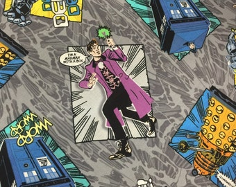 Doctor Who Comic Book coordinate fabric, hard to find 1 yard