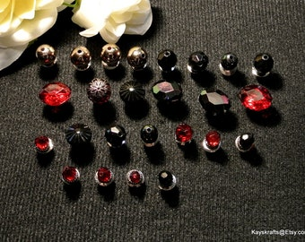 Maroon Black Thumbtacks Pushpins, Maroon Black Bead Thumb Tacks Push Pins, Gift For Her, Mothers Day Gift, Cork Board Accessory