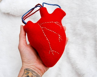 Anatomical red Heart plush